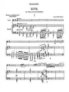Benjamin Dale: Suite Op.2 Books | Viola, Piano Accompaniment