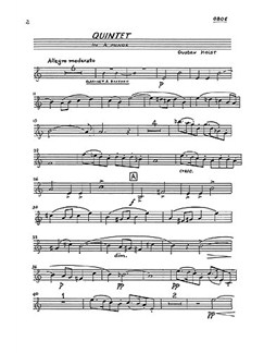 Gustav Holst: Quintet In A Minor For Piano and Wind Op.3 (Parts) Books | Wind Instruments, Piano