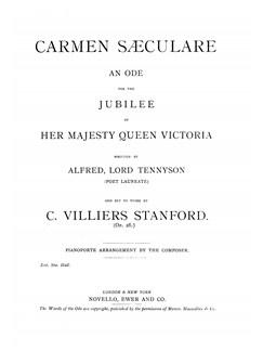 C.V. Stanford: Carmen Saeculare Books | SATB, Piano Accompaniment