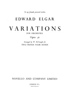 Edward Elgar: Variations Op.36 (Two Pianos) Books | Two Pianos