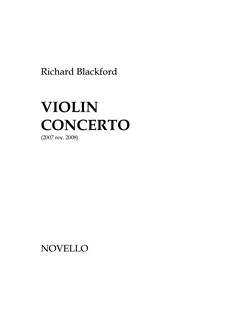 Richard Blackford: Violin Concerto (Score) Books | Violin, Orchestra