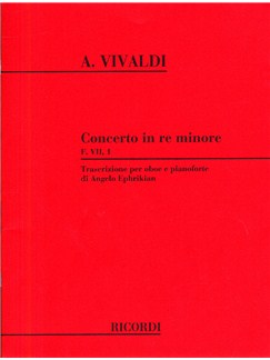 Antonio Vivaldi: Concerto In D Minor (Oboe and Piano) Books | Oboe, Piano Accompaniment