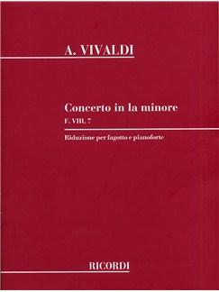 Antonio Vivaldi: Concerto In A Minor F.VIII 7 (Bassoon and Piano) Books | Bassoon, Piano Accompaniment