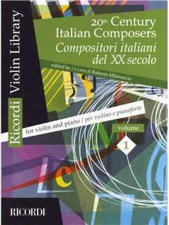 20th Century Italian Composers: Volume 1 (Violin/Piano) Books | Violin, Piano Accompaniment