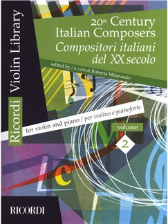 20th Century Italian Composers: Volume 2 (Violin/Piano) Books | Violin, Piano Accompaniment