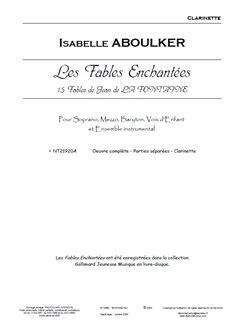 Isabelle Aboulker: Les Fables Enchantées - Instrumental Parts Books | Ensemble