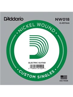 D'Addario: NW018 Nickel Wound Electric Guitar Single String, .018  | Guitar