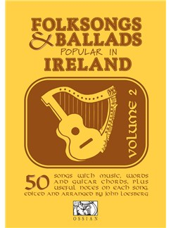 Folksongs And Ballads Popular In Ireland Volume 2 Livre | Ligne De Mélodie, Paroles et Accords