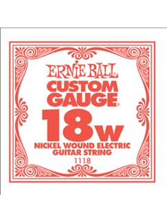 Ernie Ball: Nickel Wound Single Electric Guitar String (.018)  | Electric Guitar