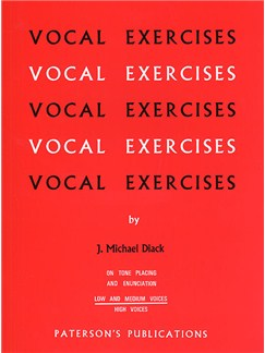 J. Michael Diack: Vocal Exercises On Tone Placing And Enunciation (Low And Medium Voices) Books | Medium-Low Voice, Piano
