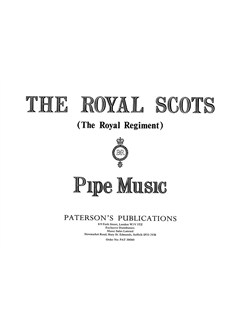 The Royal Scots (The Royal Regiment) Pipe Music Books | Bagpipe