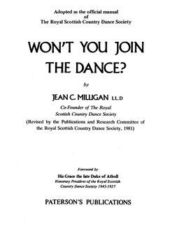 Jean C. Milligan: Won't You Join The Dance Books |
