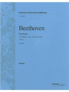 Ludwig van Beethoven: Choral Fantasy In C Minor Op.80 (Score) Books | Piano, SATB, Orchestra