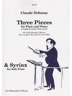 Claude Debussy: Three Pieces For Flute Books | Flute, Piano Accompaniment