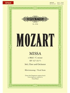 W.A. Mozart: Mass In C Minor (Edition Peters Urtext) Books | SATB, Piano Accompaniment