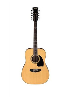 Ibanez: PF1512-NT 12 String Dreadnought Acoustic Guitar - Natural Instruments | Guitar