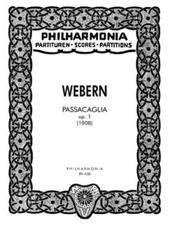 Anton Webern: Passacaglia Op.1 Books   Orchestra