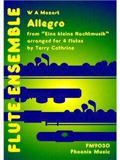 Wolfgang Amadeus Mozart: Allegro (Eine Kleine Nachtmusic) (4-Part Flute Ensemble) Books | Flute (Quartet)