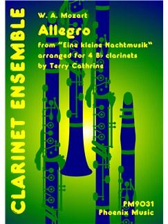 W.A. Mozart: Allegro - Eine Kleine Nachtmusik (Clarinet Quartet) Books | Clarinet (Quartet)