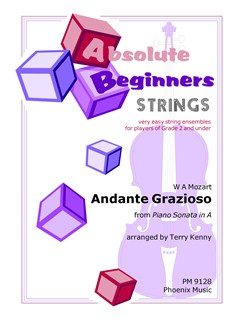 Wolfgang Amadeus Mozart: Andante Grazioso (Piano Sonata In A) (String Ensemble) Books | String Ensemble
