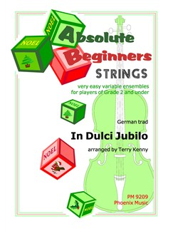 Absolute Beginners - In Dulci Jubilo (String Ensemble) Books | String Ensemble
