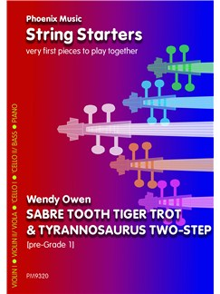 Wendy Owen: Sabre Tooth Tiger Trot And Tyrannosaurus Two-Step (Beginner Strings) Books | String Ensemble