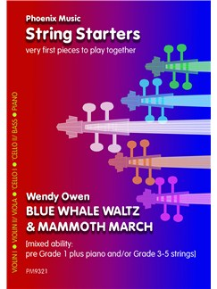 Wendy Owen: Blue Whale Waltz And Mammoth March (Mixed Ability Strings) Books | String Ensemble