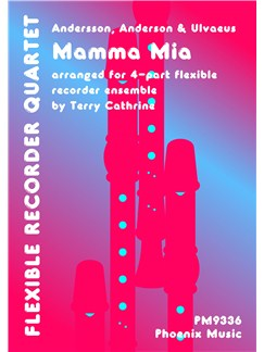 ABBA: Mamma Mia (4-Part Recorder Ensemble) Books | Recorder (Quartet)