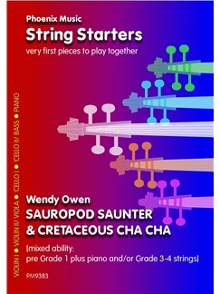 Wendy Owen: Sauropod Saunter And Cretaceous Cha-Cha (Mixed Ability Strings) Books | String Ensemble