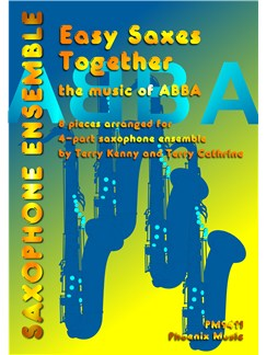 Easy Saxes Together - ABBA Books | Saxophone (Quartet)