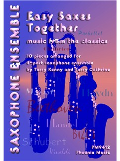 Easy Saxes Together - Music From The Classics (Flexible Ensemble) Books | 4-Part Saxophone Ensemble