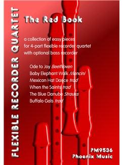 The Red Book - Easy Pieces For Flexible Recorder Quartet Books | Recorder (Quartet)
