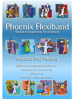 ABBA: Mamma Mia Medley - Flexiband Arrangement Books | Wind Ensemble