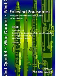 Fairwind Foursomes Book 1 - Flexible Wind Quartet Books | Wind Ensemble