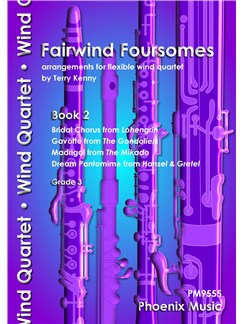 Fairwind Foursomes Book 2 - Flexible Wind Quartet Books | Wind Ensemble