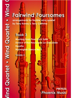 Fairwind Foursomes Book 3 - Flexible Wind Quartet Books | Wind Ensemble