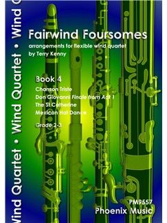 Fairwind Foursomes Book 4 - Flexible Wind Quartet Books | Wind Ensemble