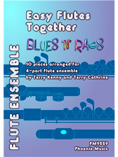Easy Flutes Together - Blues 'N' Rags Books | Flute, Ensemble