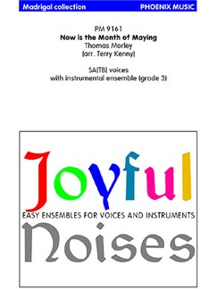 Thomas Morley: Now Is The Month Of Maying (Ensemble And Voices) (Pack Of 10 Vocal Scores) Books | Ensemble, Voice