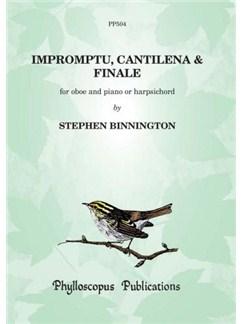 Stephen Binnington: Impromptu, Cantilena and Finale (Oboe & Piano) Books | Oboe, Piano Accompaniment