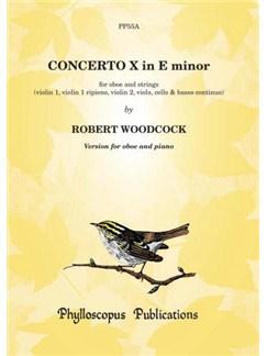 Robert Woodcock: Concerto No. 10 in E minor - Oboe with piano reduction Books | Oboe, Piano Accompaniment
