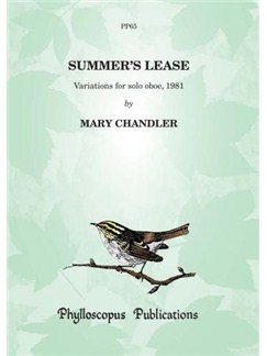 Mary Chandler: Summer's Lease (Oboe Solo) Books | Oboe