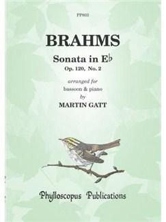 Johannes Brahms: Sonata In E Flat Op.120 No.2 - Bassoon/Piano Books   Bassoon, Piano Accompaniment
