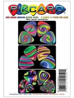 PikCard 3-Pack: Colour Swirls  (12 Guitar Picks)  | Guitar