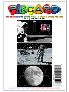 PikCard 3-Pack: Moonman (12 Guitar Picks)  |