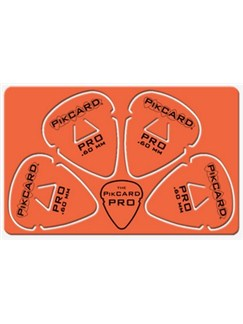 PikCard: .60mm Orange Delrin (4 Guitar Picks)  |