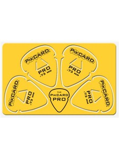 PikCard: .73mm Yellow Delrin (4 Guitar Picks)  |