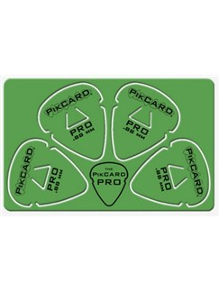 PikCard: .88mm Green Delrin (4 Guitar Picks)  |