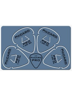 PikCard: 1.00mm Blue Delrin (4 Guitar Picks)  | Guitar