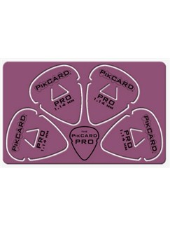 PikCard: 1.14mm Purple Delrin (4 Guitar Picks)  |